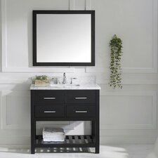 "Caroline Estate 37"" Single Bathroom Vanity Set with Mirror"