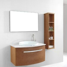 "Anabelle 39"" Single Bathroom Vanity Set with Mirror"