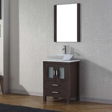 "Dior 25"" Single Bathroom Vanity Set with Mirror"