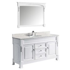 "Huntshire 59"" Single Bathroom Vanity Set with Mirror"
