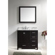 "Caroline Avenue 37"" Single Bathroom Vanity Set with Mirror I"