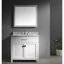 "Caroline 36"" Single Bathroom Vanity Set with Mirror I"