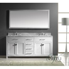 "Caroline 73"" Double Bathroom Vanity Set with Mirror"