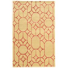 Aspire Window Hand-Tufted Ivory/Coral Area Rug