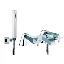 Mp1 Double Handle Deck Mount Diveter/Thermostatic Bath Tub Faucet with Hand Shower