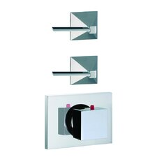 Mp1 Built-In Thermostatic Valve Trim with Two Volume Control Handles