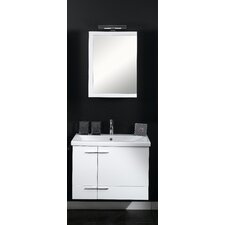 "Simple 32"" Single Wall Mounted Bathroom Vanity Set with Mirror"