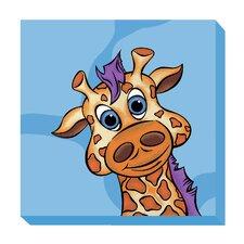 Giraffe Zoo Baby Canvas Art