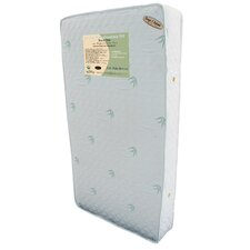 "Organic Baby Essentials VII 5.75"" Two in One Crib Mattress with Natural Quilted Bamboo Fabric Cover"