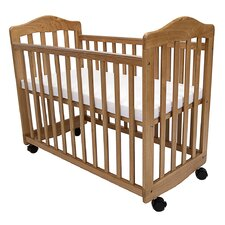 Bedside Manor Compact Cradle Convertible Crib with Mattress