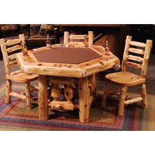Cedar Log 6 Sided Poker Table