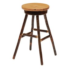 "Hickory 30"" Swivel Bar Stool with Cushion"