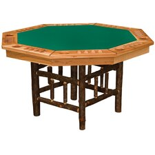 """53"""" Hickory 8-Sided Poker Table"""