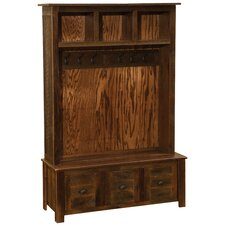 Barnwood Entry Locker Unit Hall Tree