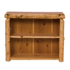 Traditional Cedar Log Standard Bookcase