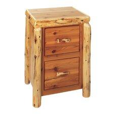 Traditional Cedar Log 2-Drawer File Cabinet