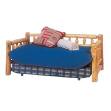 Traditional Cedar Log Daybed with Trundle