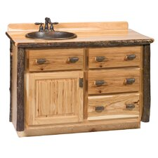 "Hickory 48"" Single Bathroom Vanity Set"