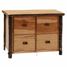 Hickory 4-Drawer File Cabinet