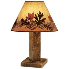 "Barnwood 26"" H Table Lamp with Empire Shade"