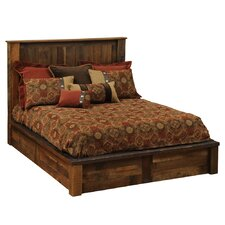 Barnwood Traditional Platform Bed