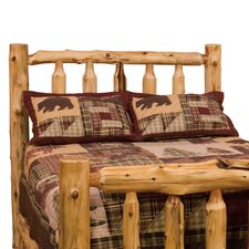 Traditional Cedar Log Wood Headboard