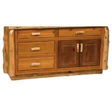 "Traditional Cedar Log 60"" Bathroom Vanity Base"