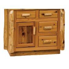 "Traditional Cedar Log 36"" Bathroom Vanity Base"