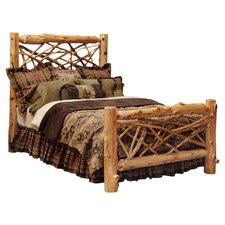Cedar Twig Log Panel Bed