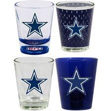 4 Piece Dallas Cowboys 2 Oz. Shot Glass Collector Set (Set of 4)