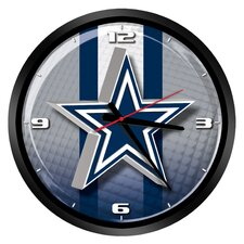 """NFL Dallas Cowboys 15"""" Glass Clock"""