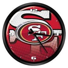 "NFL San Francisco 49ers 15"" Glass Clock"