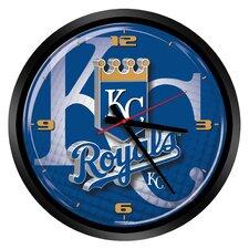 "MLB Kansas City Royals 15"" Glass Clock"