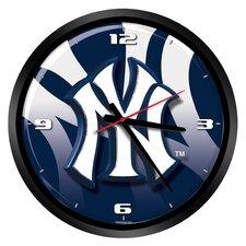 "MLB New York Yankees 15"" Glass Clock"