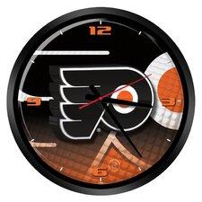 "NHL Philadelphia Flyers 15"" Glass Clock"