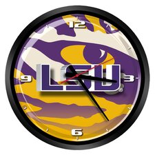 "NCAA LSU Tigers 15"" Glass Clock"
