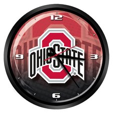 "NCAA Ohio State Buckeyes 15"" Glass Clock"