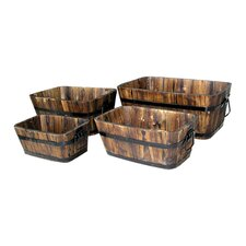 4 Piece Rectangular Planter Box Set