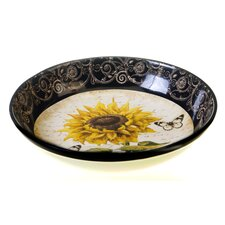 French Sunflowers Serving Pasta Bowl