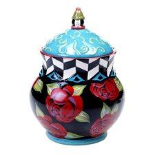 Classic Rose Biscotti Jar