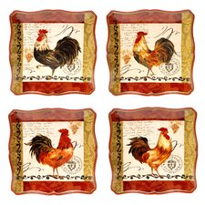 Tuscan Rooster Dinner Plates (Set of 4)