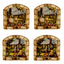 Tuscan View Canape Plate (Set of 4)