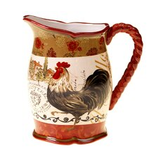 Tuscan Rooster Pitcher