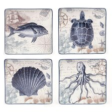 Coastal Postcard Dinner Plate (Set of 4)