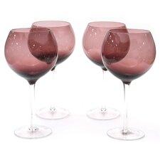 Glass Stemware Amethyst Red Wine Glasses (Set of 4)