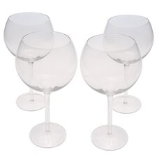 Glass Stemware Clear Red Wine Glasses (Set of 4)