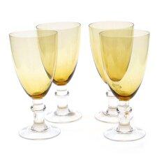 Glass Stemware Dark Amber All Purpose Goblets (Set of 4)