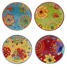 "Tunisian Sunset 8.75"" Salad Plate 4 Piece Set"