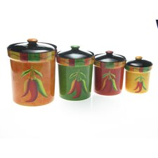 Caliente by Joy Hall 4-Piece Canister Set