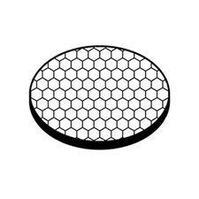 45 Degree Black Hexcell Louver Sheild Accent Lens